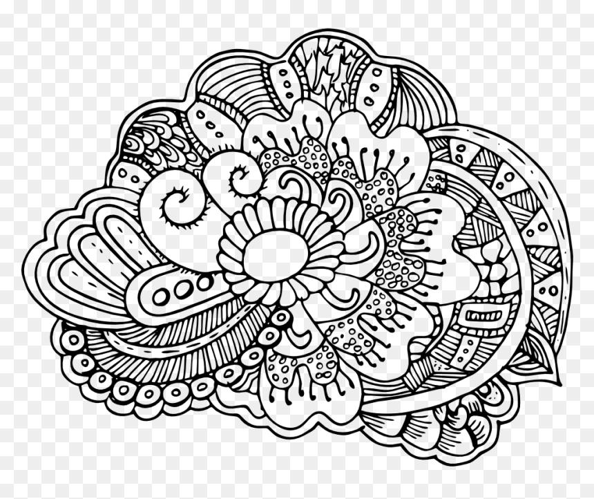 Mandala Art Adult Art Coloring Sheet Free Printable Line Art Hd Png Download Vhv