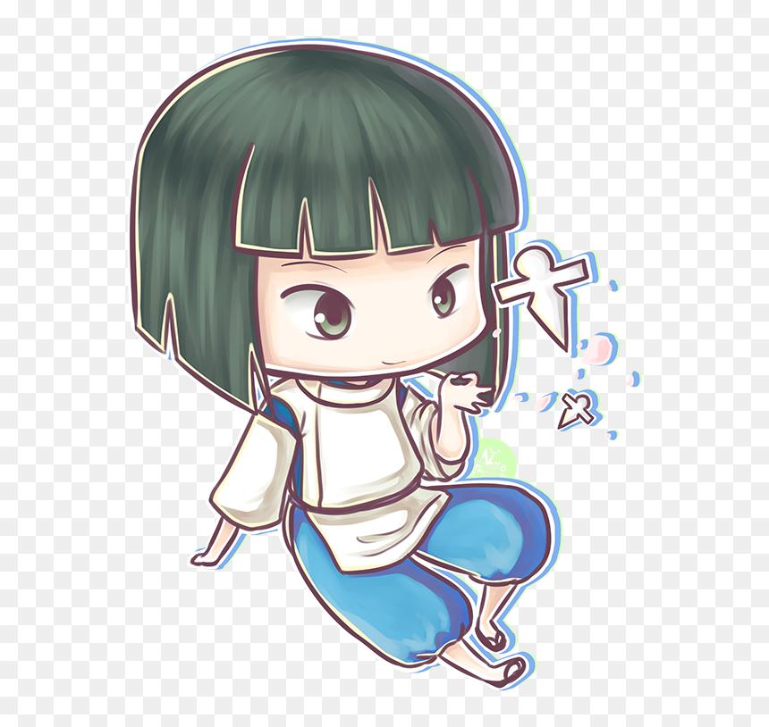 Haku Spirited Away Fanart Png Download Studio Ghibli Chibi Transparent Png Vhv