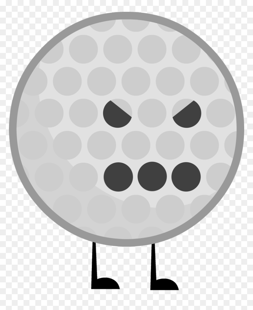 Golf Ball Vector Png Bfdi Golf Ball Body Transparent Png Vhv