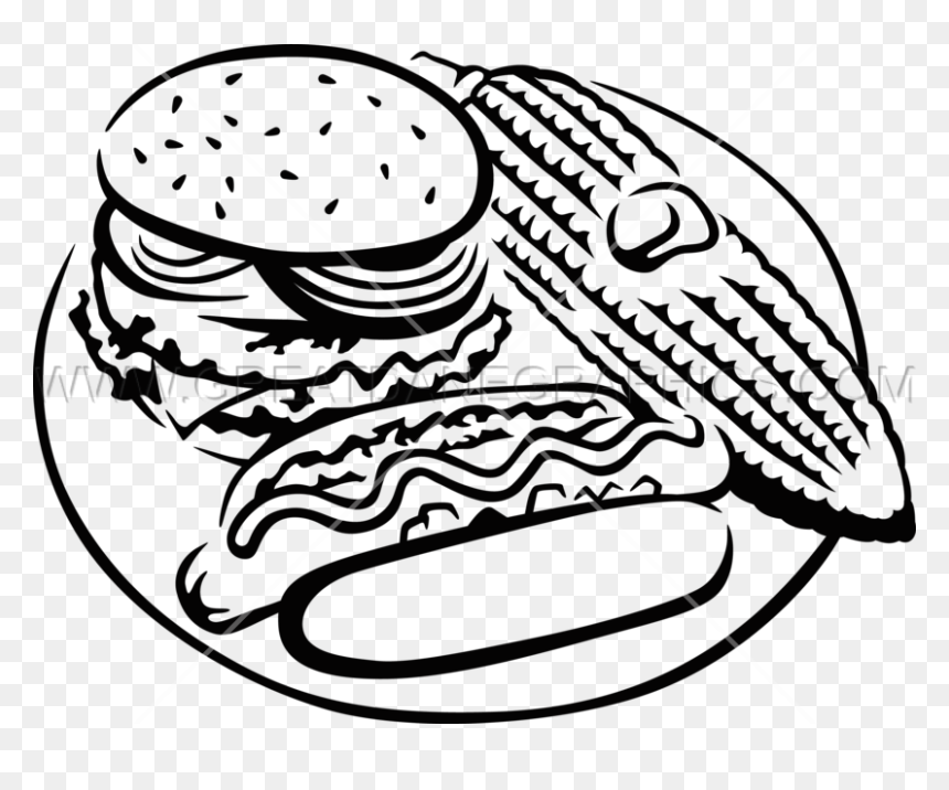 Hot Dog Clipart Black And White Png Free Library Hot Hot Dog Transparent Png Vhv