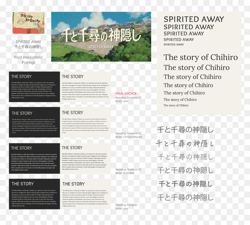 Live Site Designs For Film Promotion Site Spirited Away Title Hd Png Download Vhv