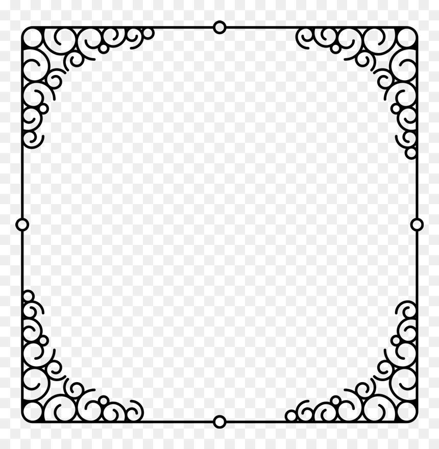 Old Frame Mirror Wall Sticker Border Ornate Frame Hd Png Download Vhv