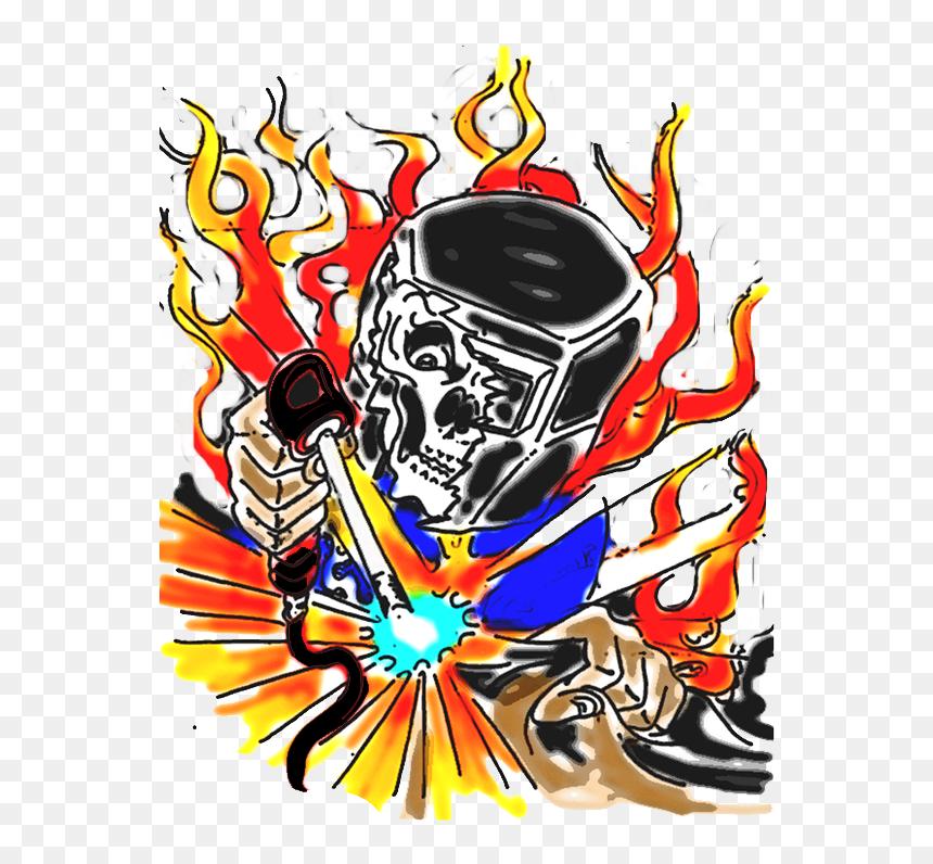Welding Helmet Skull Welder Clip Art Welder Skull Vector Png Transparent Png Vhv