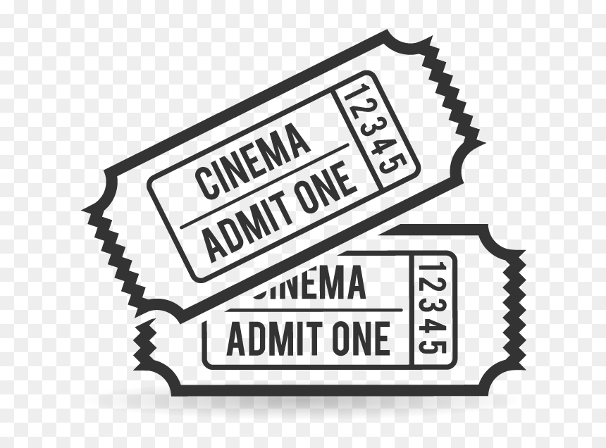 Ticket Clipart Admit One Movie Ticket Coloring Page Hd Png Download Vhv