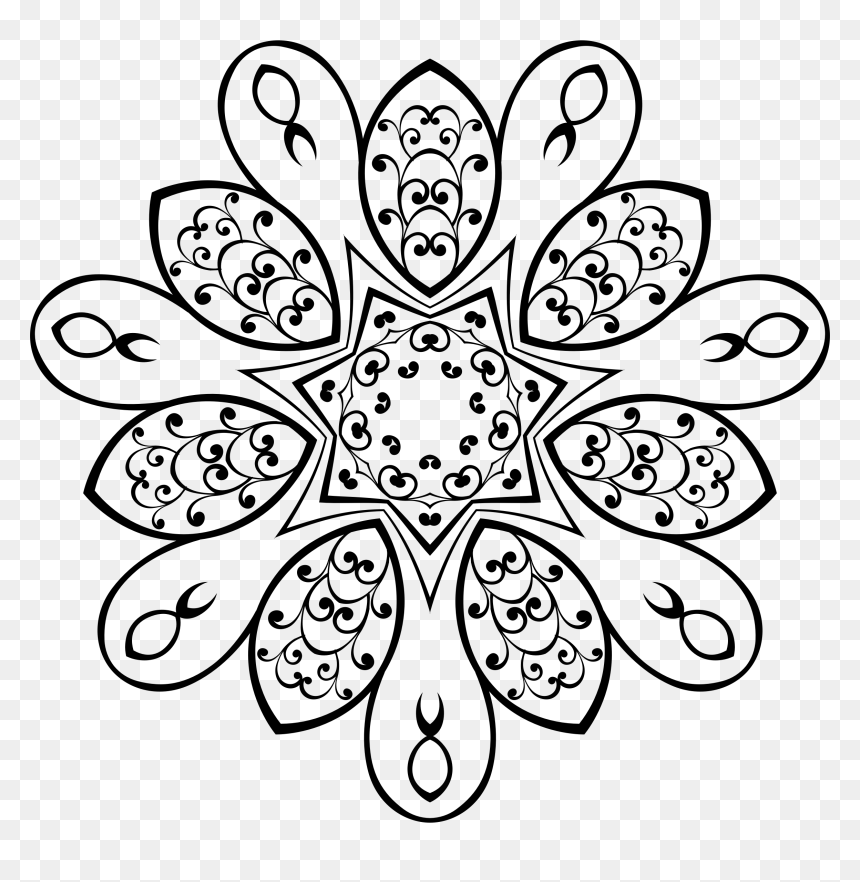 stylish floral design 5 clip arts vector batik hitam putih png transparent png vhv vector batik hitam putih png