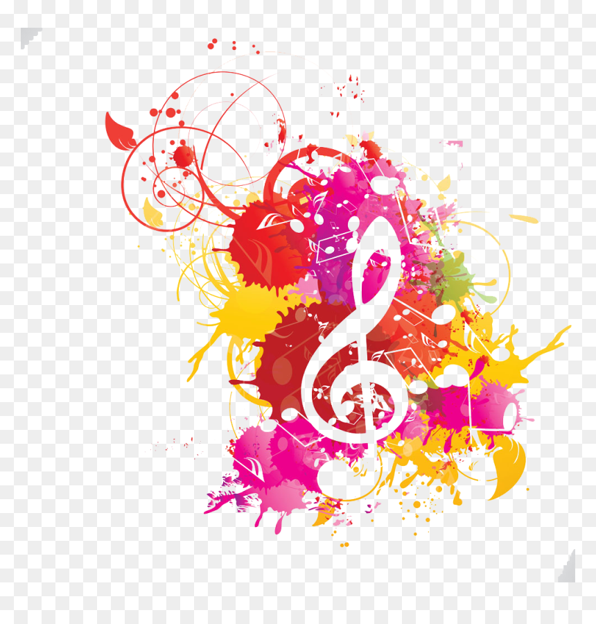Musical Note Watercolor Painting Musical Notation Watercolor Colorful Music Notes Transparent Background Hd Png Download Vhv
