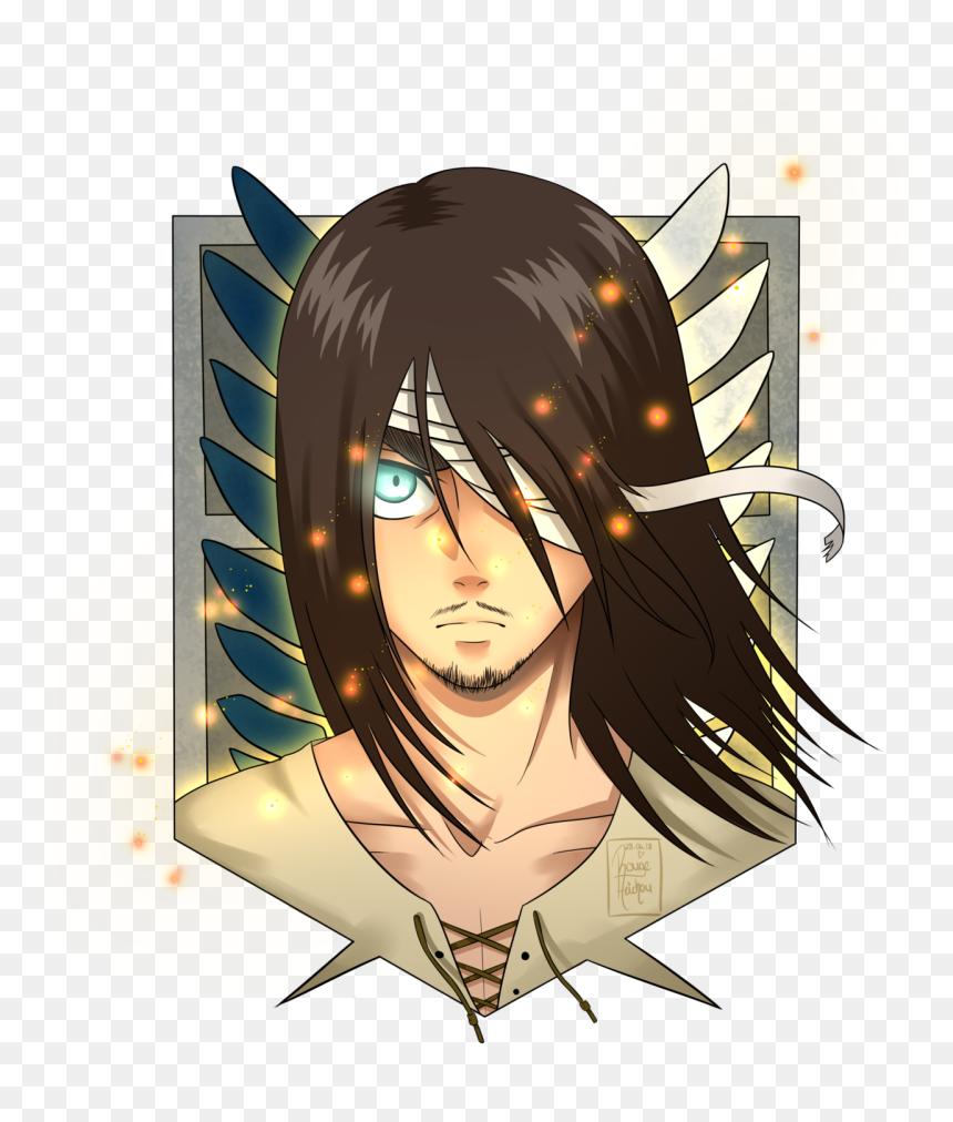 Attack On Titan Eren Long Hair Hd Png Download Vhv