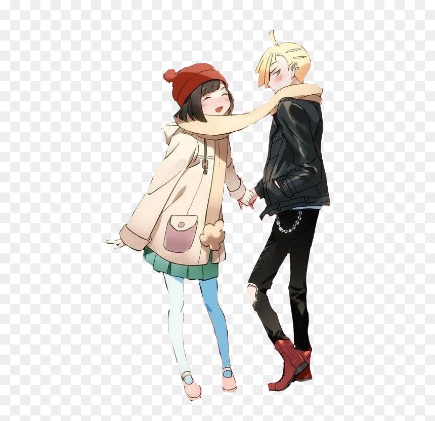 Anime Couple Christmas Cartoon Hd Png Download Vhv