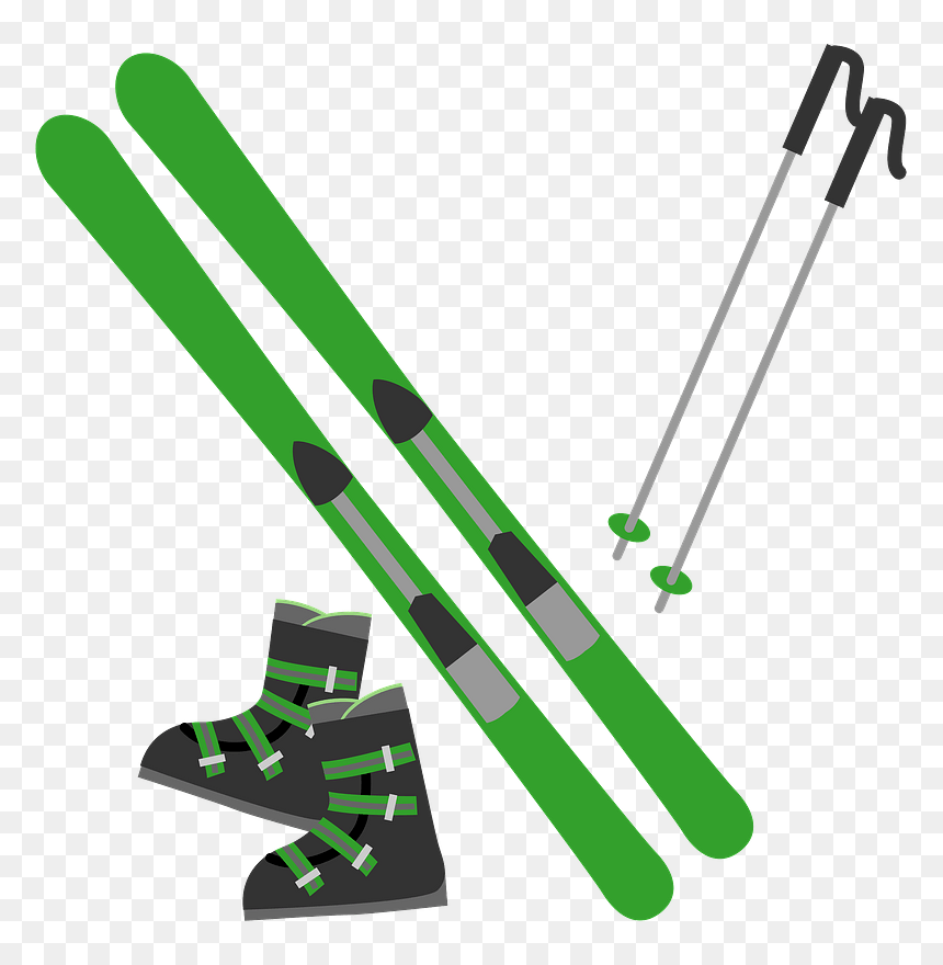 Skiing Skis Boots Poles Clipart Ski Clipart Hd Png Download Vhv