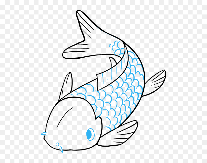 Easy Koi Drawing Hd Png Download Vhv