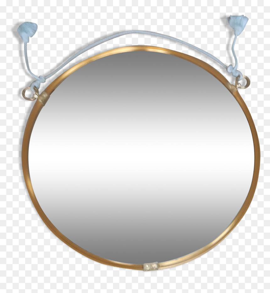 Large Golden Round Mirror 70cm Src Https Circle Hd Png Download Vhv