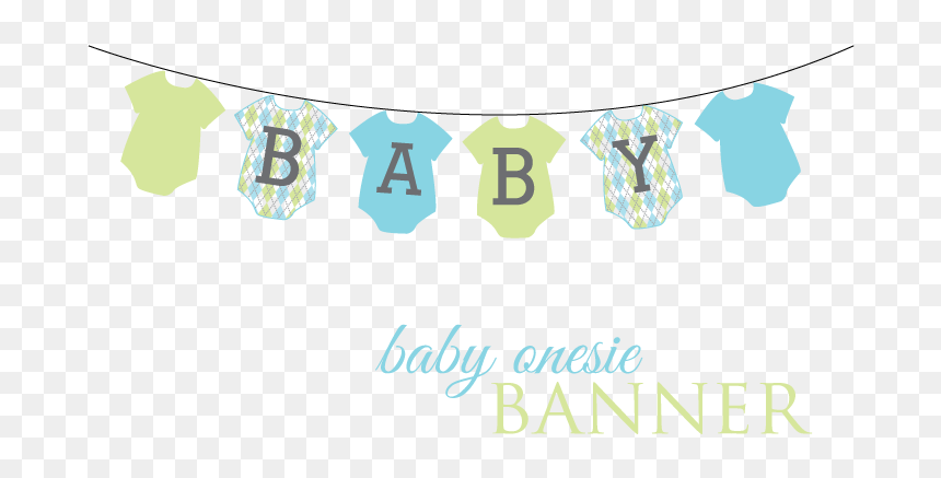 Baby Shower Banner Png Picture Baby Onesie Banner Clipart Transparent Png Vhv