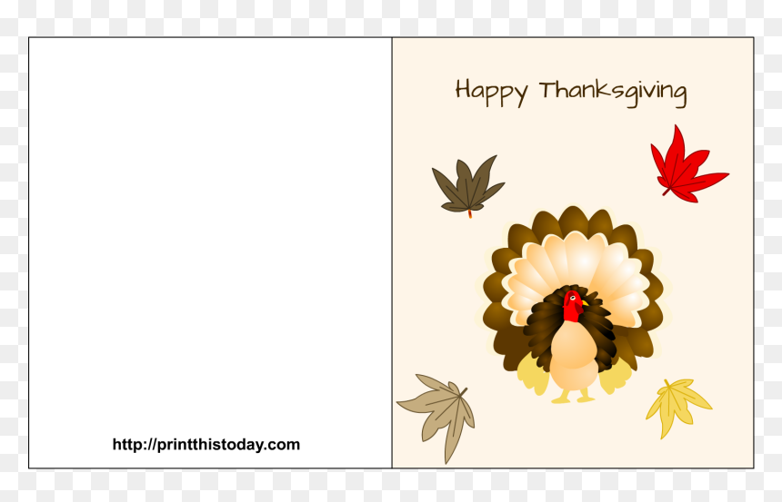 Thanksgiving Greeting Cards Png Printable Thanksgiving Card Template Free Transparent Png Vhv