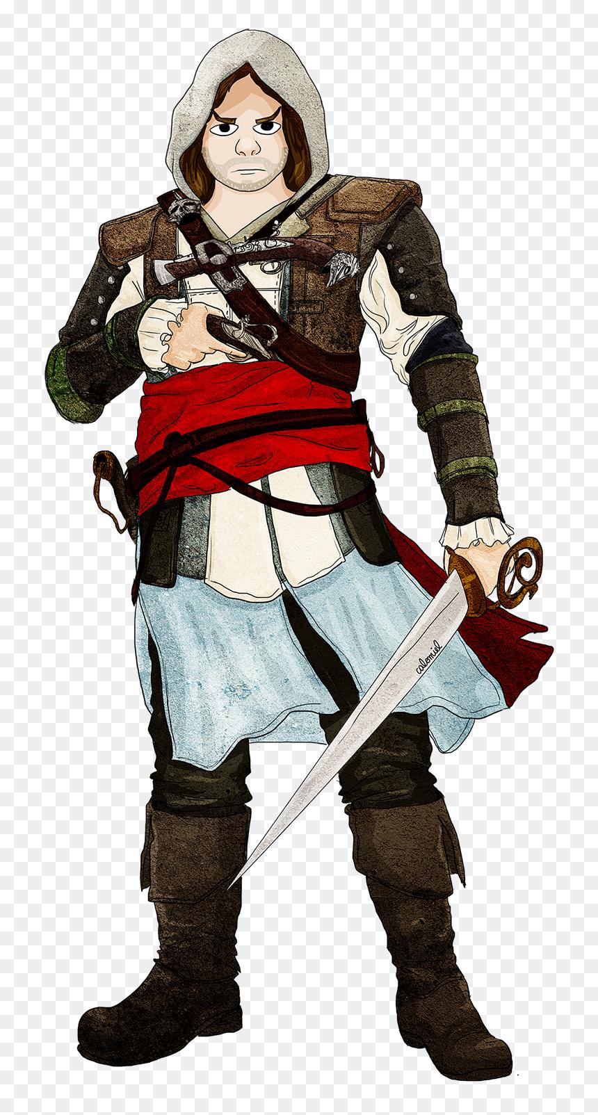 Dessin Assassin S Creed Chibi Edward Kenway Png Download Portable Network Graphics Transparent Png Vhv
