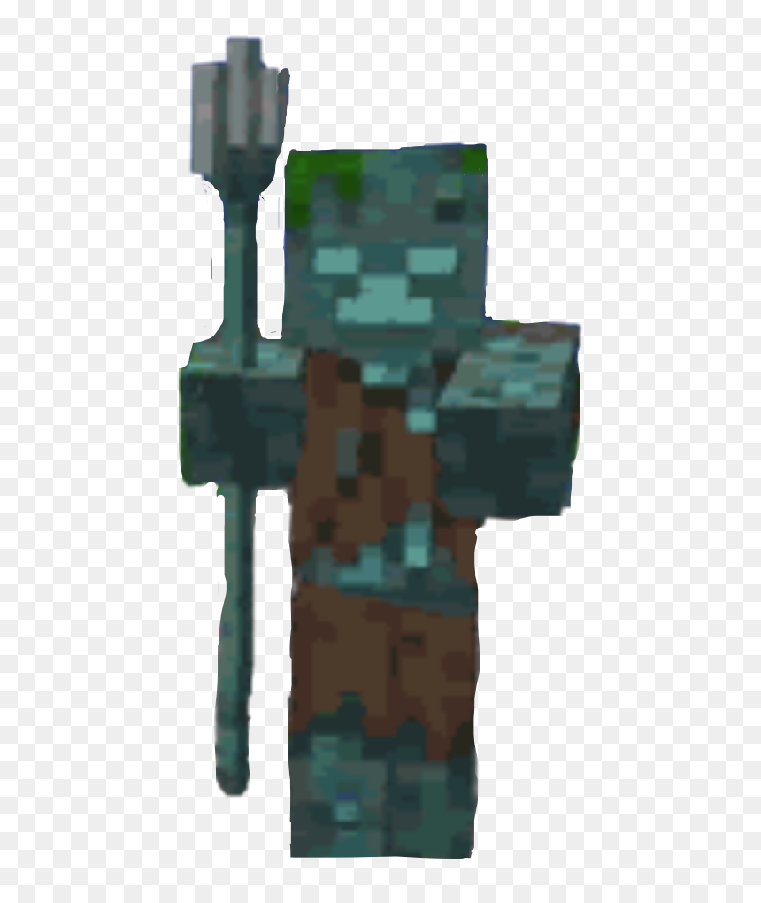 drowned #minecraft #zombie # spear #freetoedit - Minecraft Drowned