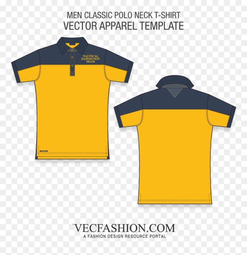 Men Classic Polo Shirt Fashion Flat Polo Shirt Design Layout Hd Png Download Vhv