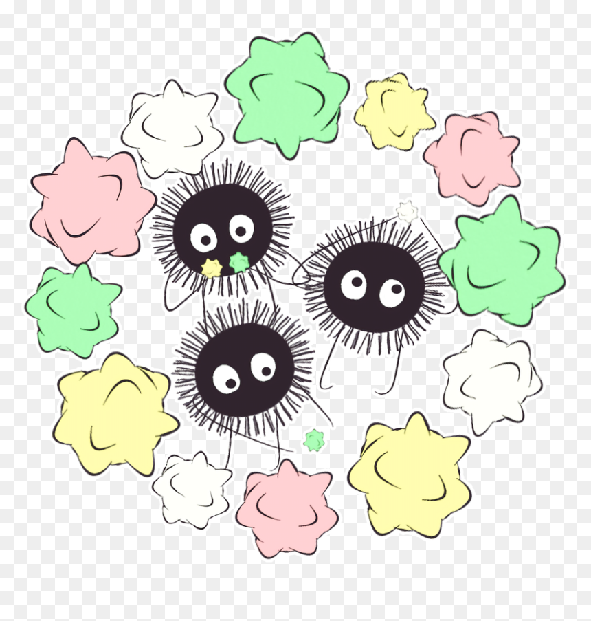 Soot Sprites And No Face From Spirited Away Look At Spirited Away Icon Png Transparent Png Vhv