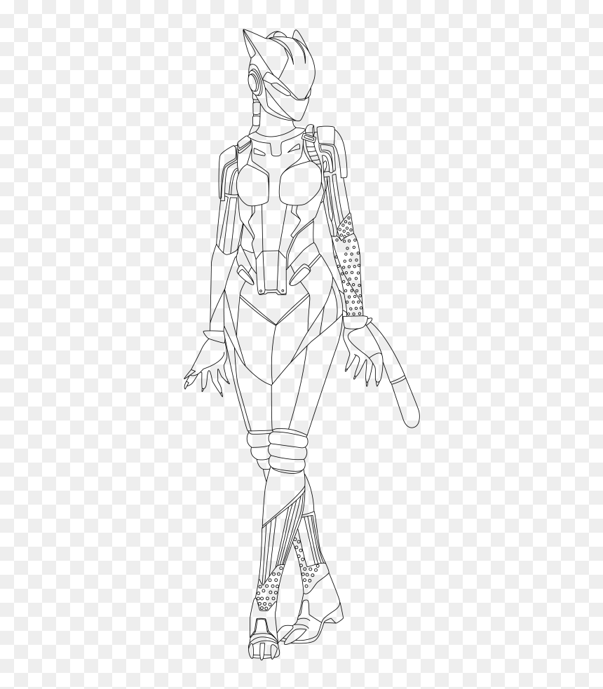 Lynx Skin Fortnite Coloring Pages Colouring Pages Fortnite Skins Hd Png Download Vhv