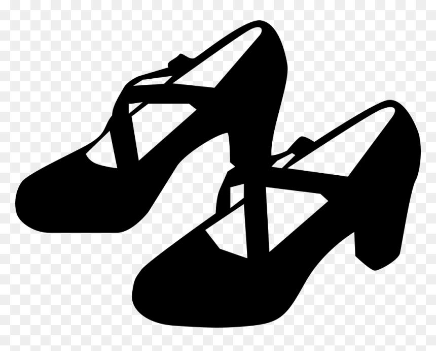 Flamenco Shoe Ballet Shoe Dance Ladies Shoes Clipart Black And White Hd Png Download Vhv