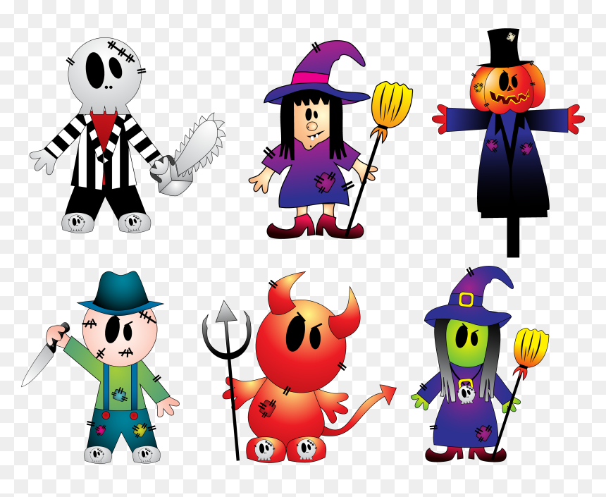 Halloween Scary Clipart.Clipart Halloween Creepy Vector Library Library Halloween Scary Halloween Costumes Clipart Hd Png Download Vhv