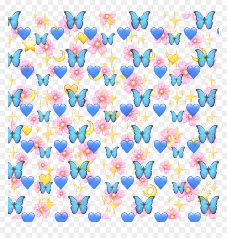 Aesthetic Butterfly Emoji Background, HD Png Download - vhv