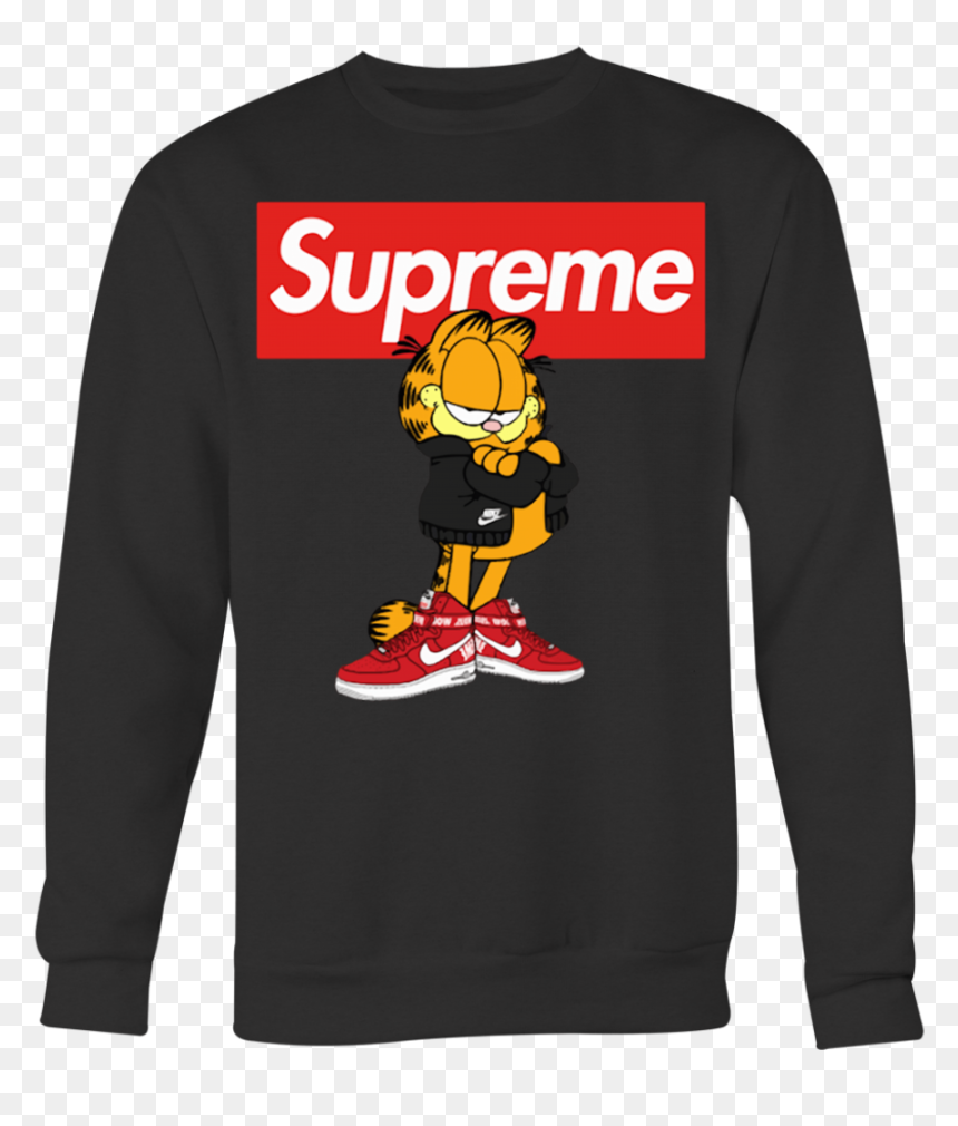 Miserable tornillo Sombra  Garfield Supreme And Nike Logo Stay Stylish T-shirt - Roblox Clothing Group  Logo, HD Png Download - vhv