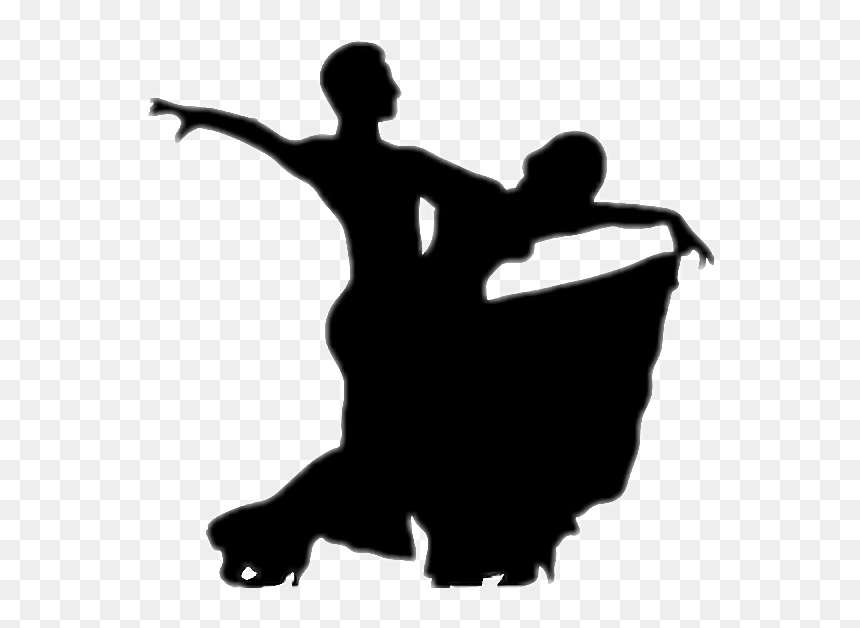 Dance Couple Black Shadow Stickers Ballroom Dance Clipart Hd Png Download Vhv