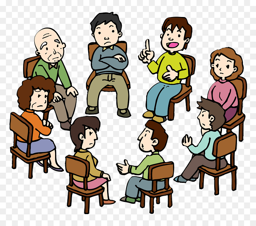 Meeting People Clipart Group Therapy Clip Art Hd Png Download Vhv