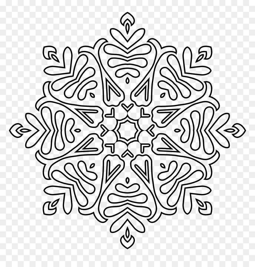 Victorian Ornament Expanded 4 Clip Arts Mandala Fleur Coloriage Mandala Hd Png Download Vhv