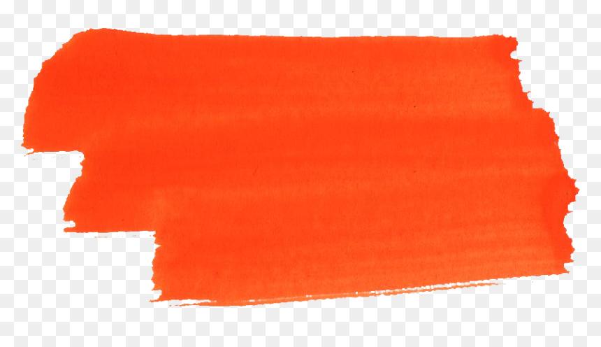 Brush Stroke Orange Paint Png Transparent Png Vhv