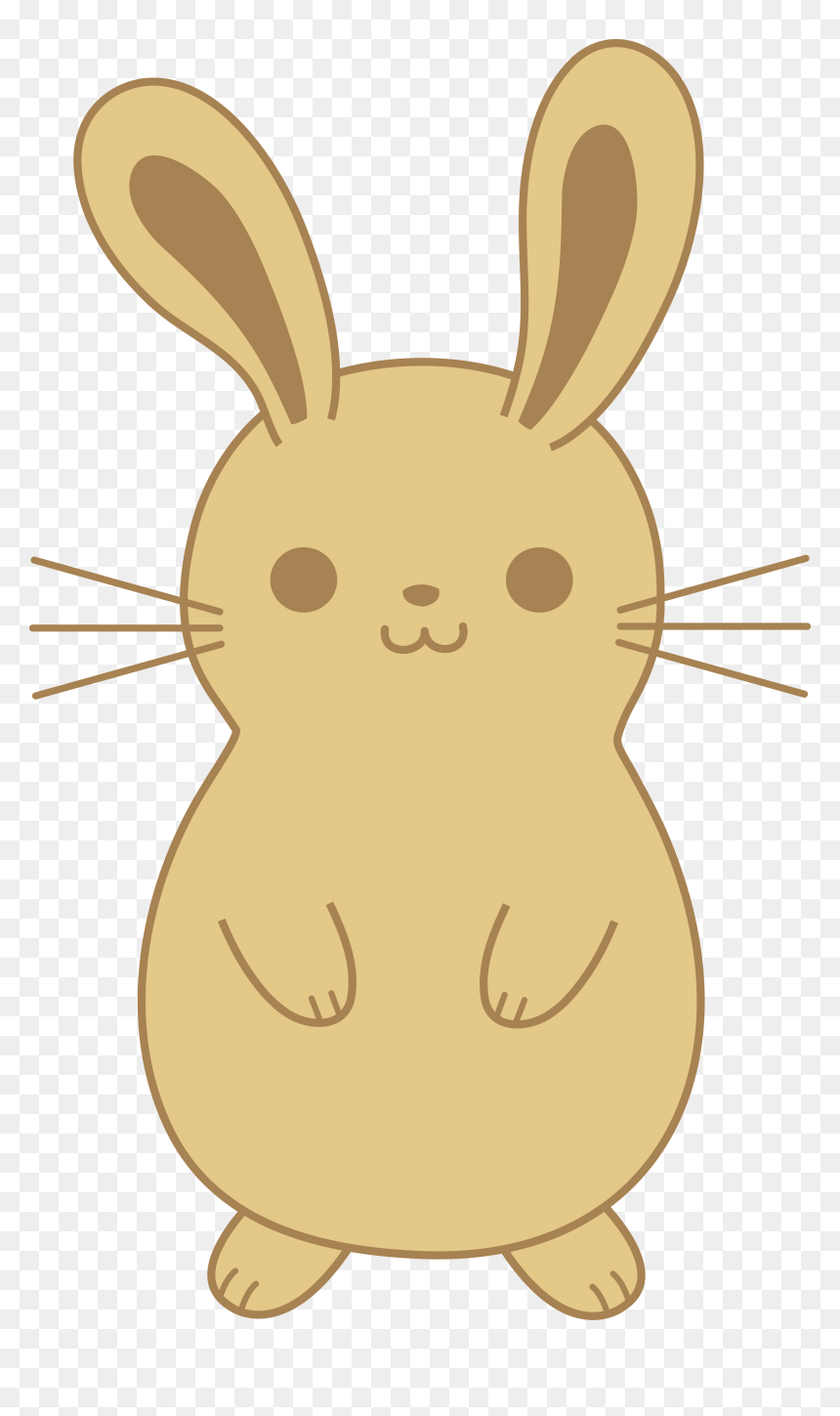 Cute Brown Bunny Rabbit Simple Easter Bunny Cartoon Hd Png Download Vhv