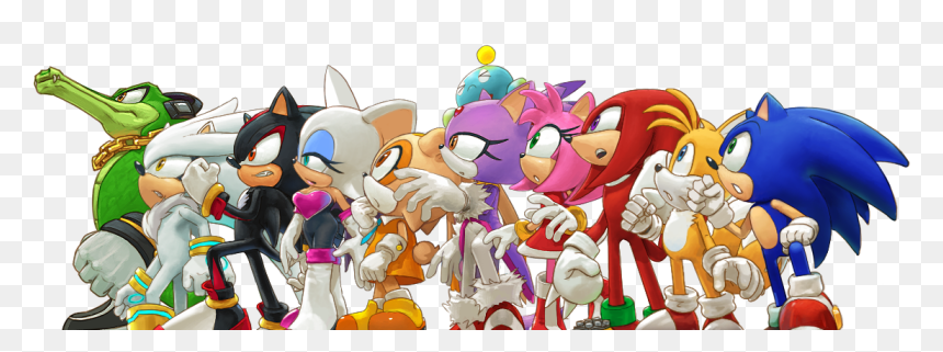 Sonic Tails Knuckles Amy Shadow Hd Png Download Vhv