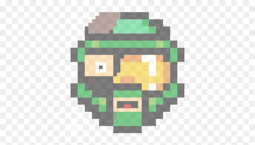 Halo Helmet Pixel Art Hd Png Download Vhv