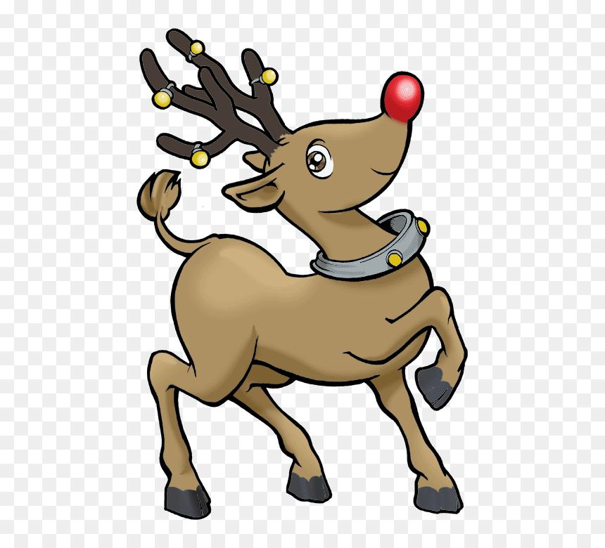 Reindeer Clip Art Free Clip Art Of Reindeer Hd Png Download Vhv