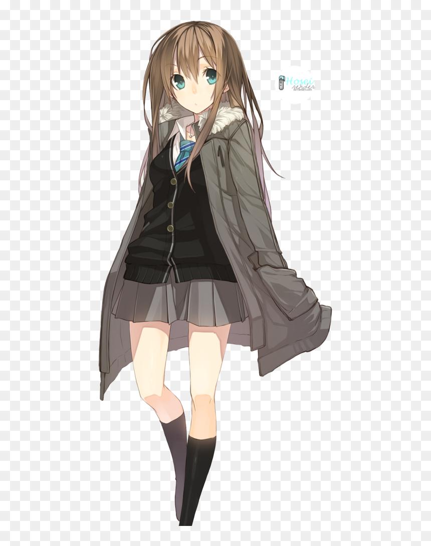 Anime School Girl Png, Transparent Png - vhv