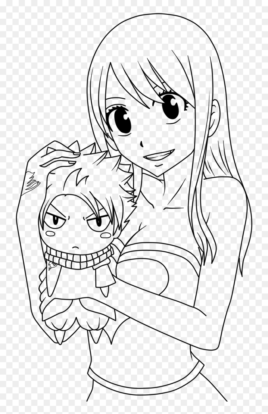 Fairy Tail Lucy Coloring Pages , Png Download   Anime Fairy Tail ...