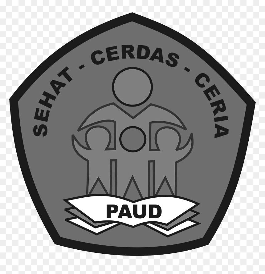 Logo Paud Format Png Berwarna Hitam Putih Grafis Media Emblem Transparent Png Vhv