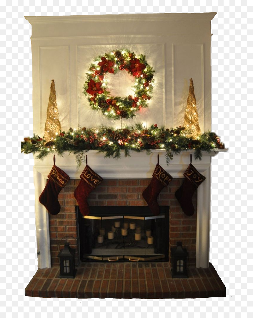 chimney christmas fireplace newyear aesthetic christmas fireplace garland ideas hd png download vhv chimney christmas fireplace newyear
