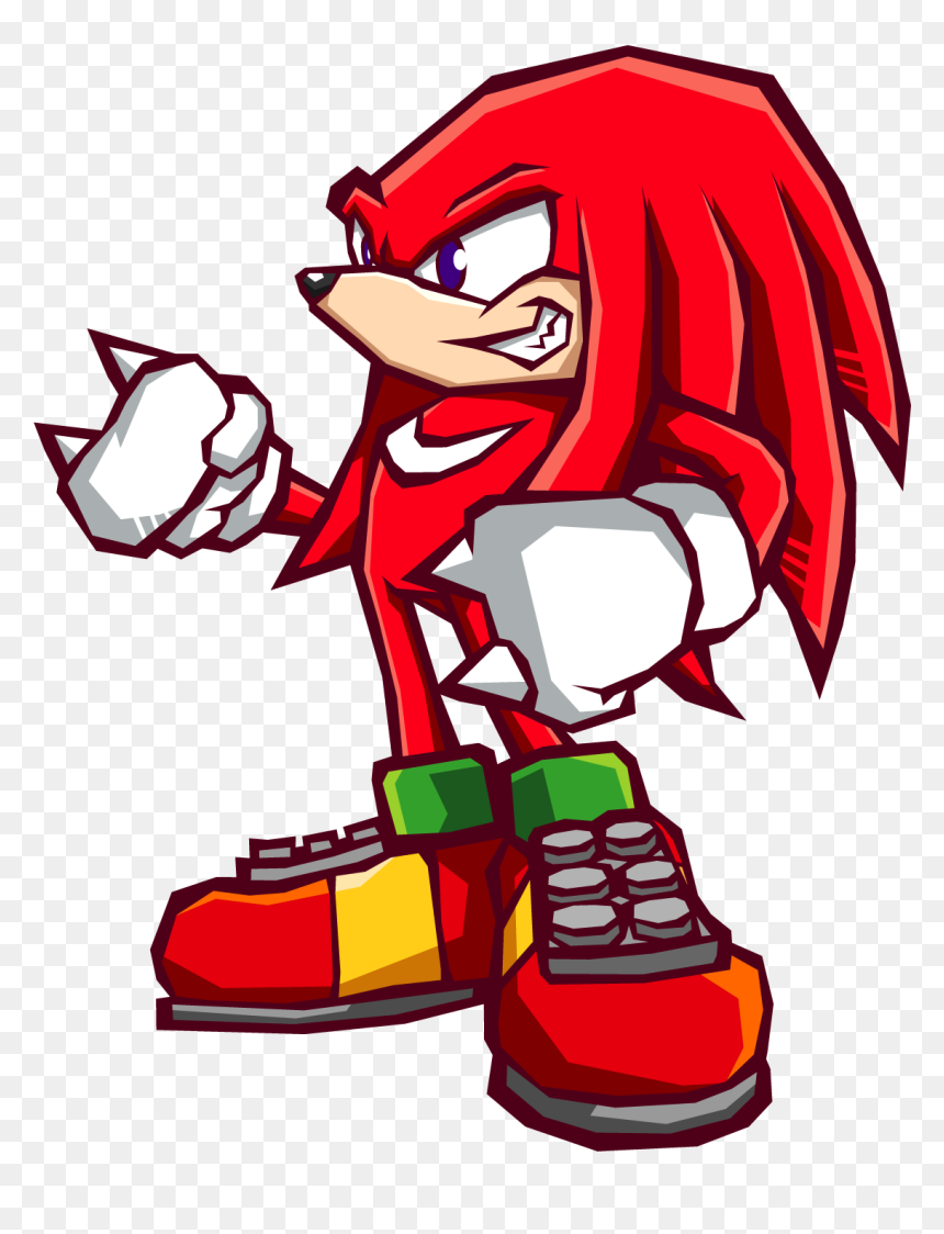 Sonic Battle Knuckles The Echidna Sonic Battle Hd Png Download Vhv