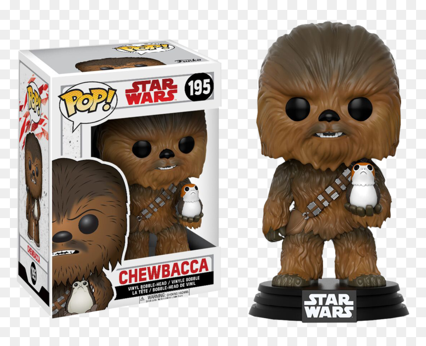 Be A Porg Roblox Star Wars Episode Viii Chewbacca With Porg Funko Pop Hd Png Download Vhv