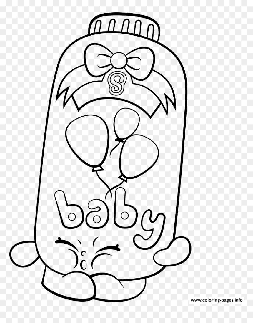 Powder Baby Puff Shopkins Season 2 Coloring Pages - Shopkins Coloring Pages,  HD Png Download - vhv