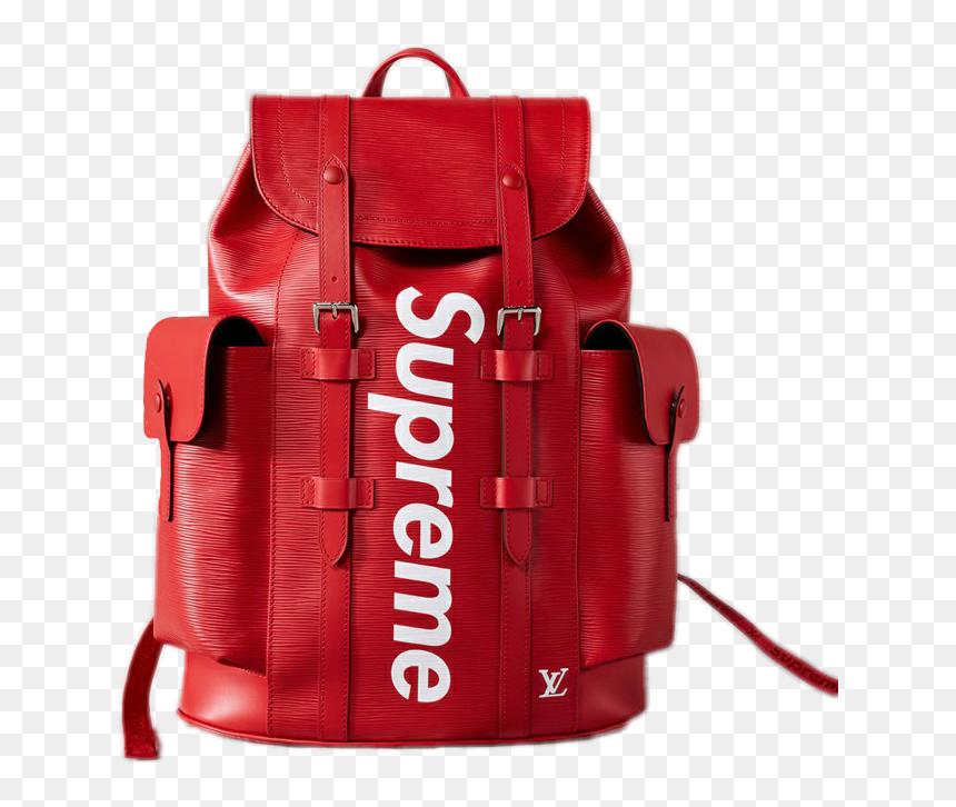 Supreme Supremebackpack Bag Louisvuitton Louis Vuitton X Supreme Christopher Backpack Epi Pm Hd Png Download Vhv