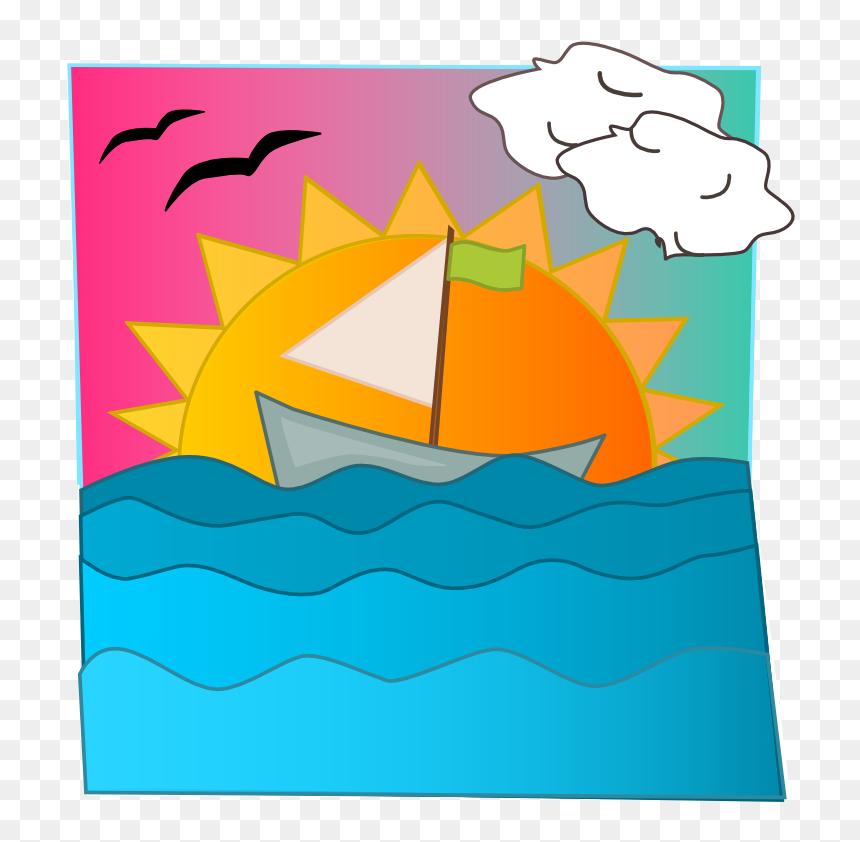 clipart sunset gambar air laut kartun hd png download vhv air laut kartun hd png download