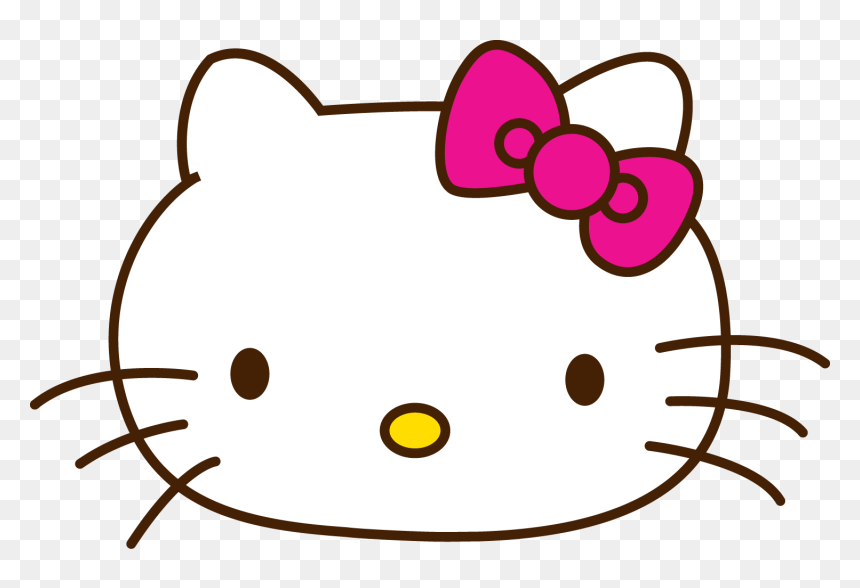 Transparent Kitty Face Png Hello Kitty Head Png Png Download Vhv