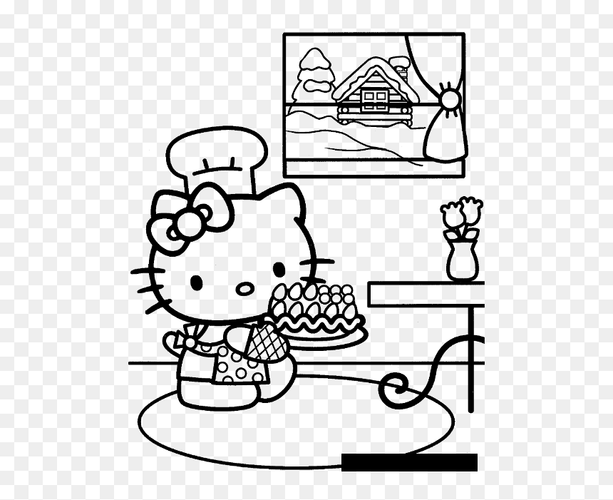 Happy Birthday Hello Kitty 1 Coloring Page - Free Coloring Pages ... | 701x860