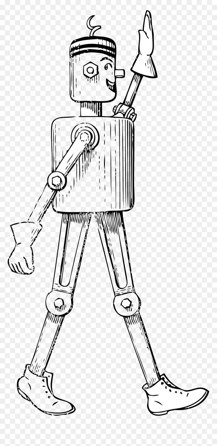 Mechanical Man Side View Clip Arts Robot Side View Drawing Hd Png Download Vhv