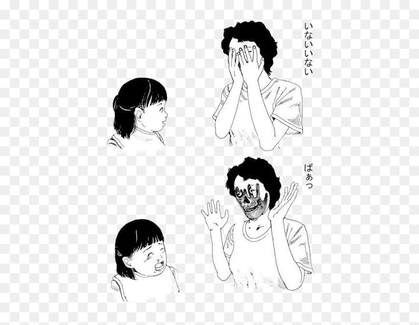 Illustration Creepy Horror Gore Manga Horror Manga Junji Ito Peekaboo Hd Png Download Vhv