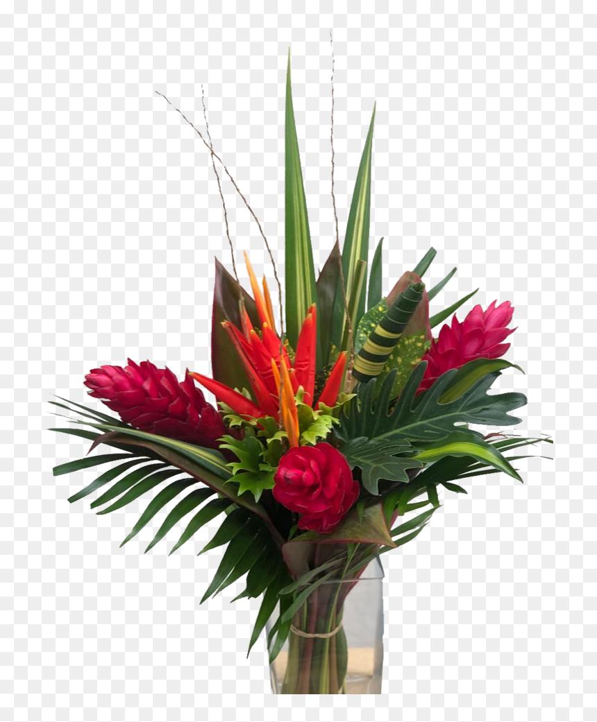 Confeti Medium Tropical Centerpieces Tropical Flower Bouquet Hd Png Download Vhv