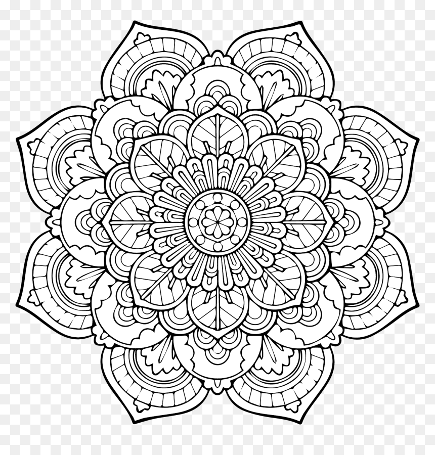 Mandala Designs Tumblr Auto Electrical Wiring Diagrammandala - Advanced  Mandala Coloring Pages, HD Png Download - Vhv