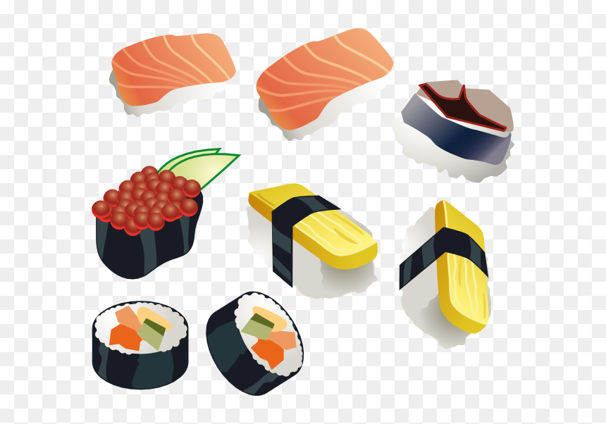 Animated Sushi Png - Clipart Sushi Png, Transparent Png - kindpng